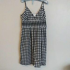 Banana Republic Black White Checked Dress
